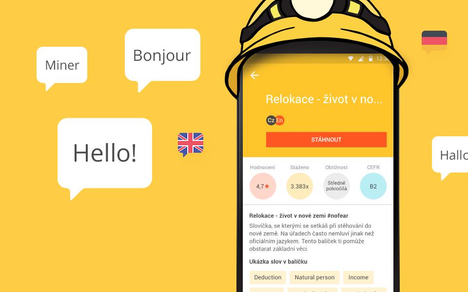 Vocabulary Miner - mobilní aplikace
