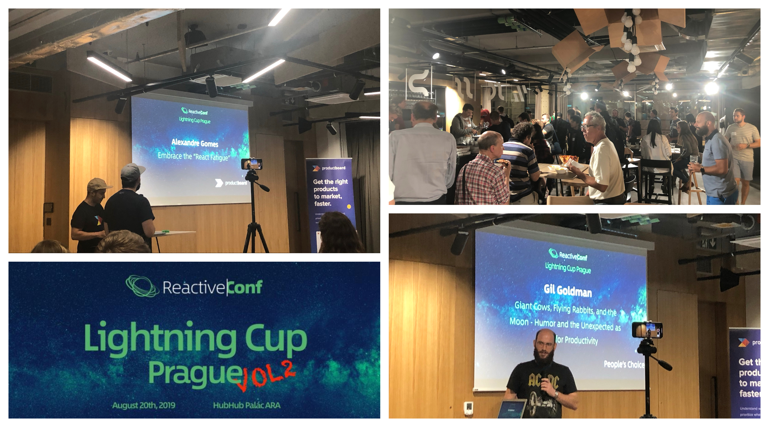Lightning Cup Prague's speakers speaking publicly to developers